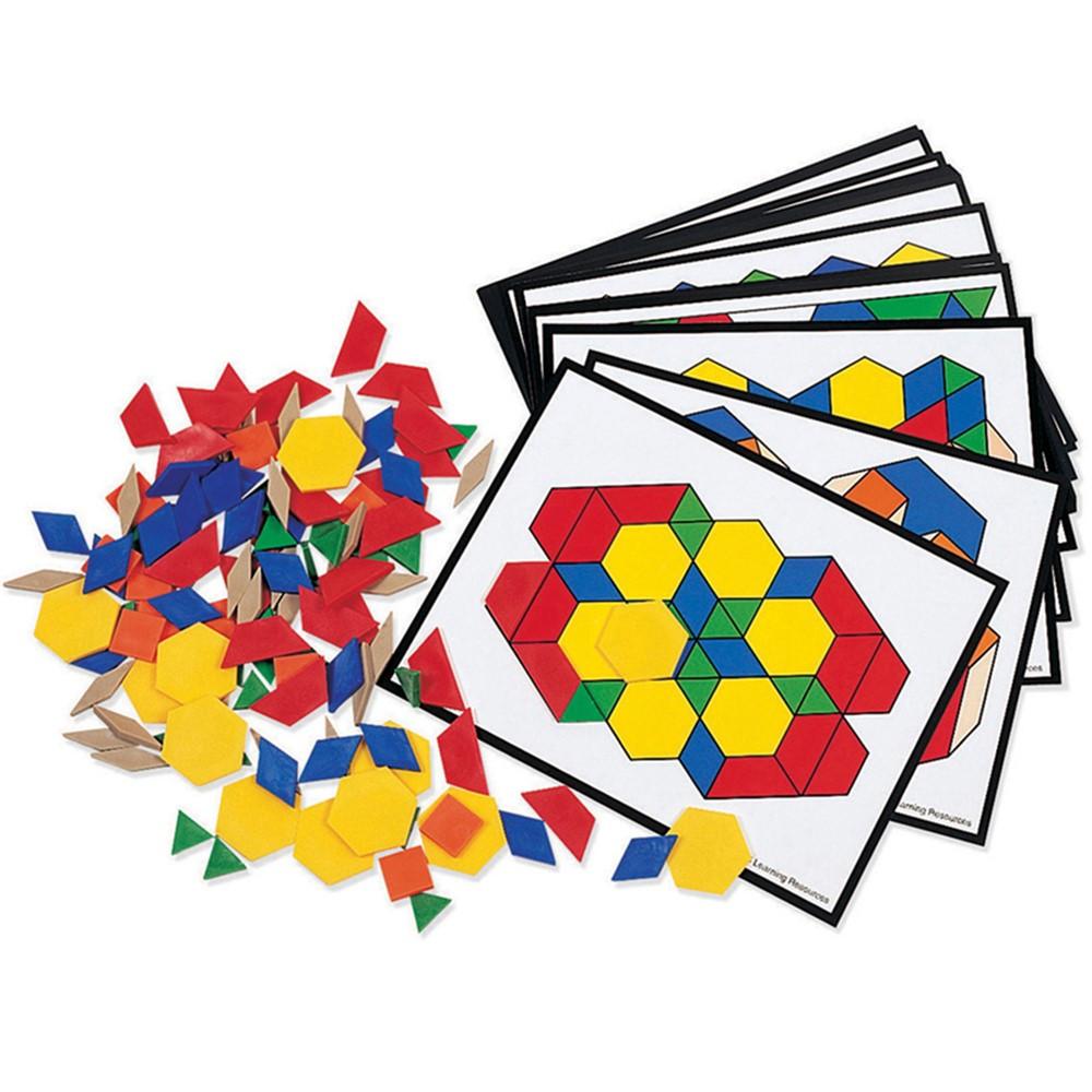 LER0335 - Pattern Block Activity Pk 124 Blocks 16 Cards in Patterning