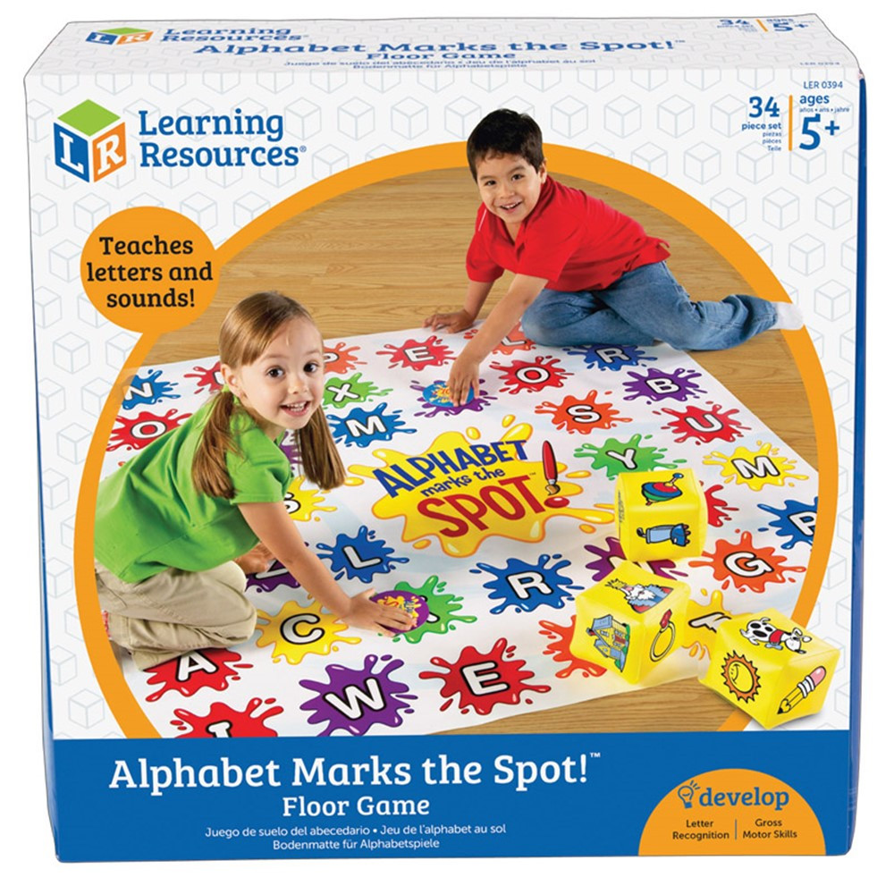 LER0394 - Alphabet Marks The Spot Game in Language Arts
