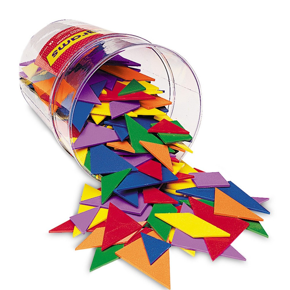 LER0416 - Tangrams Classpk 4 Colors 30 Tangrams in Patterning