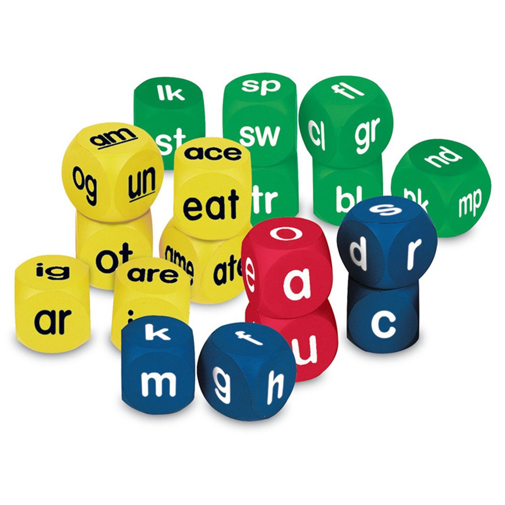 LER0589 - Phonics Cubes Class Pk Set 1 Each 0586-0588 in Phonics