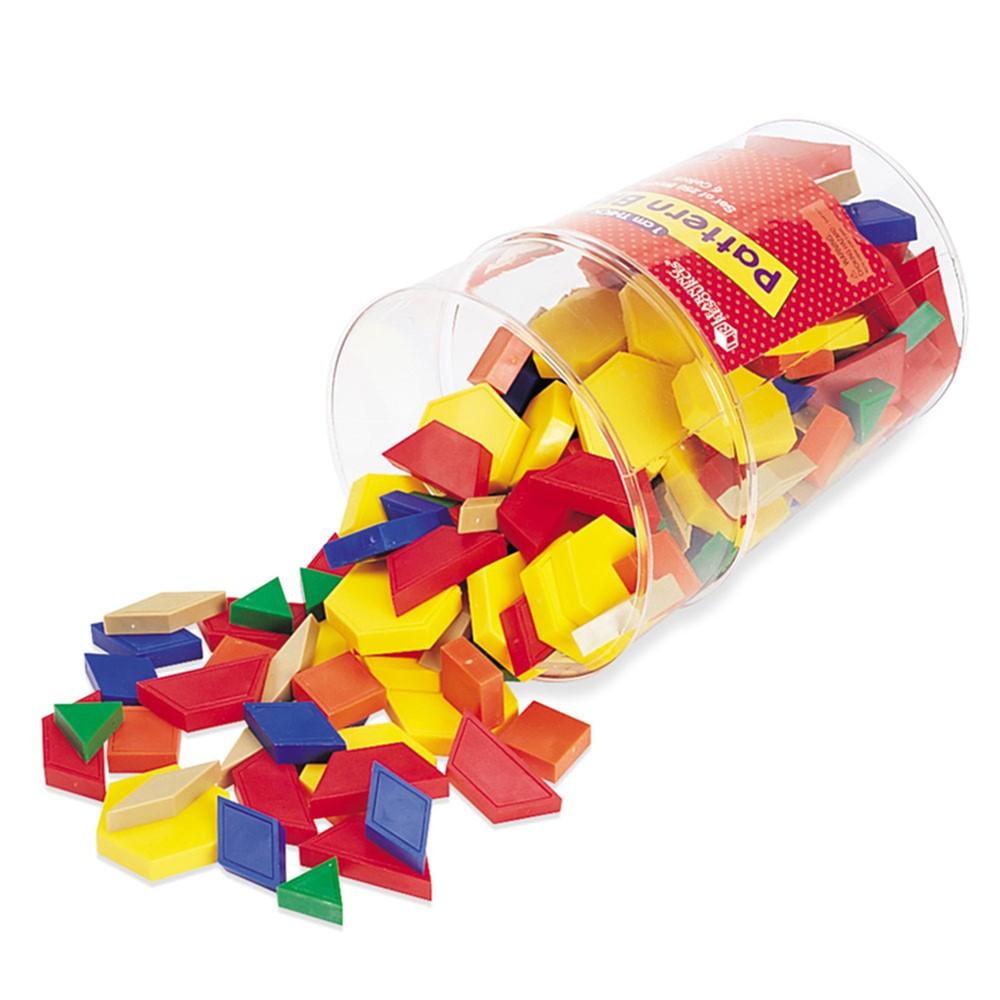 LER0632 - Pattern Blocks Plastic 1Cm 250/Pk in Patterning