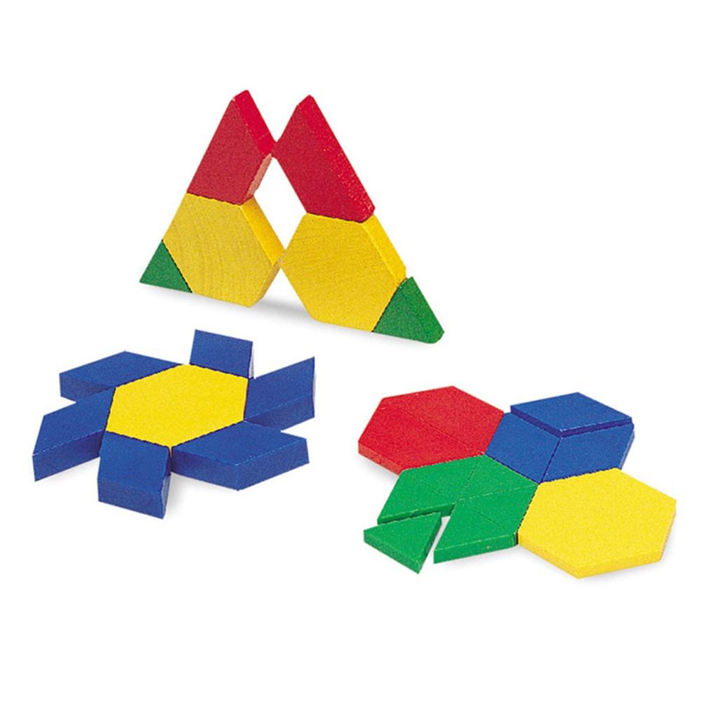 LER0634 - Pattern Blocks Mini-Set 100/Pk 5Cm Plastic in Patterning