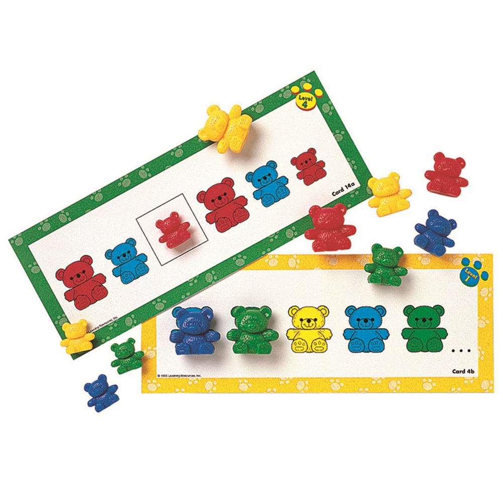 LER0753 - Three Bear Family Pattern 16/Pk Cards Double-Sided in Patterning