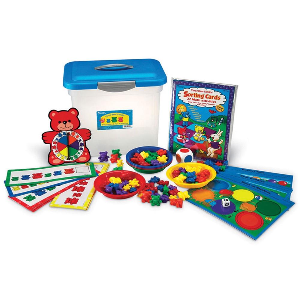 LER0757 - Three Bear Family Sort Pattern Play Gr Pk-2 Activity Set in Patterning