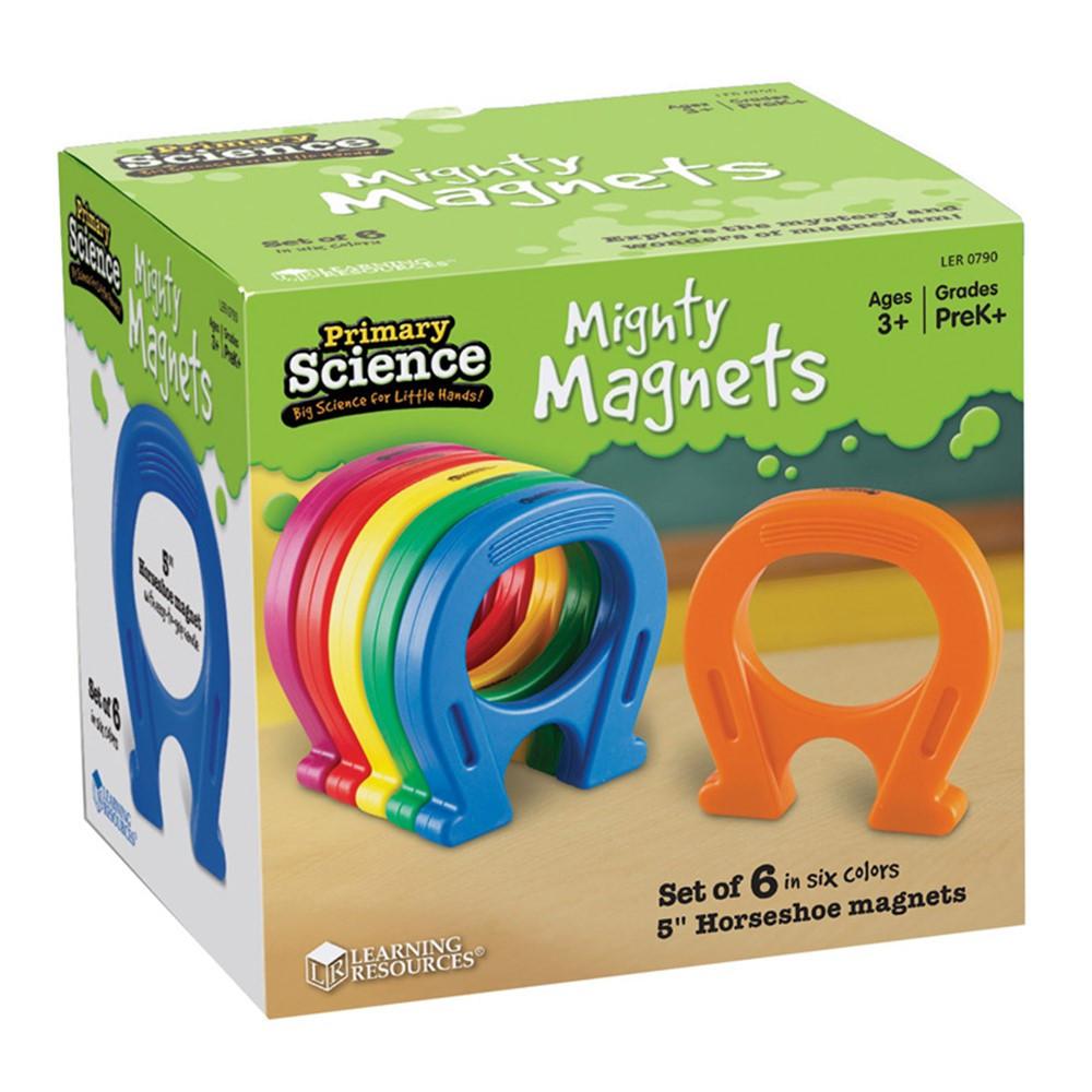 LER0790 - Horseshoe-Shaped Magnets Set Of 6 in Magnetism