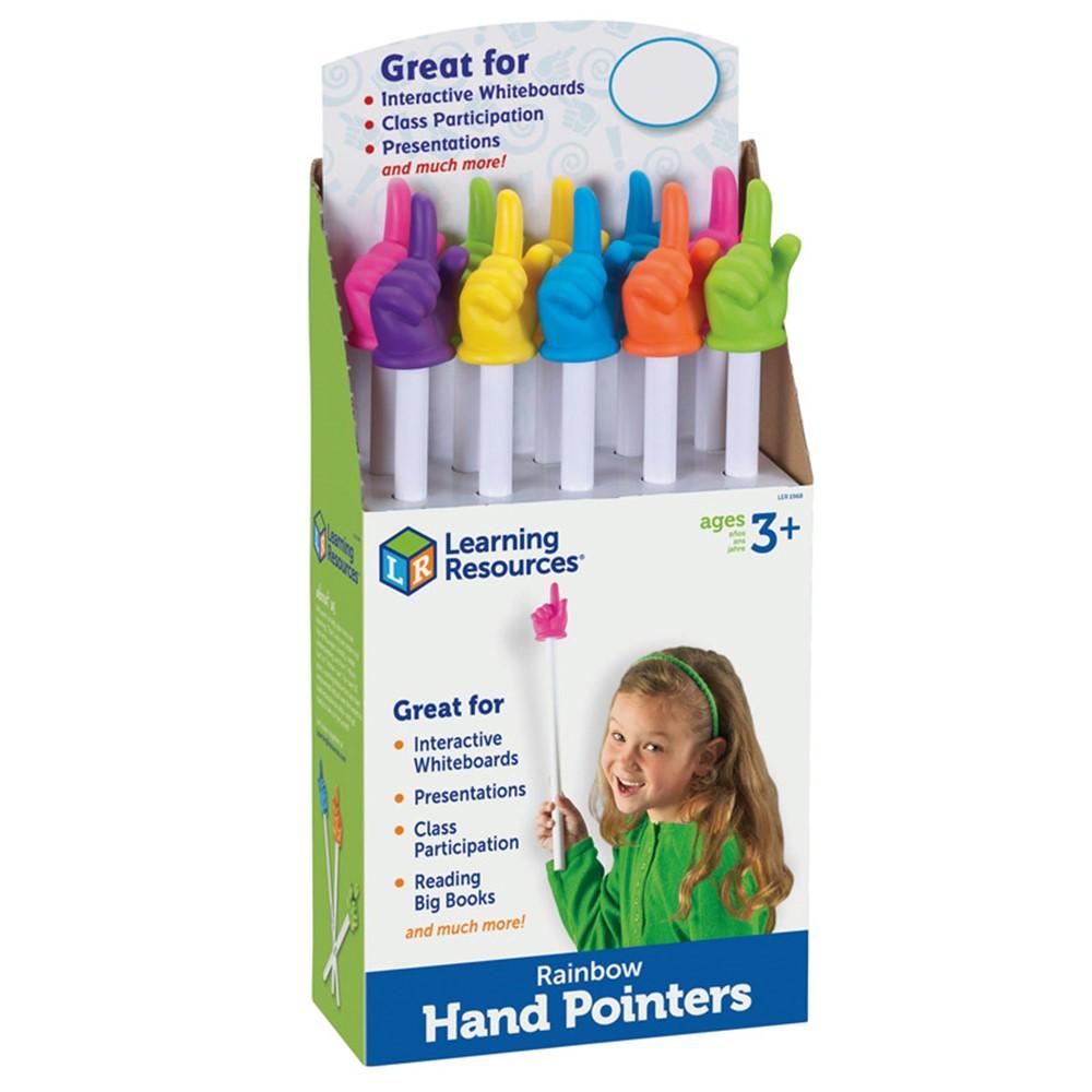 LER1968 - Rainbow Hand Pointers 10/Set Pop Display in Pointers