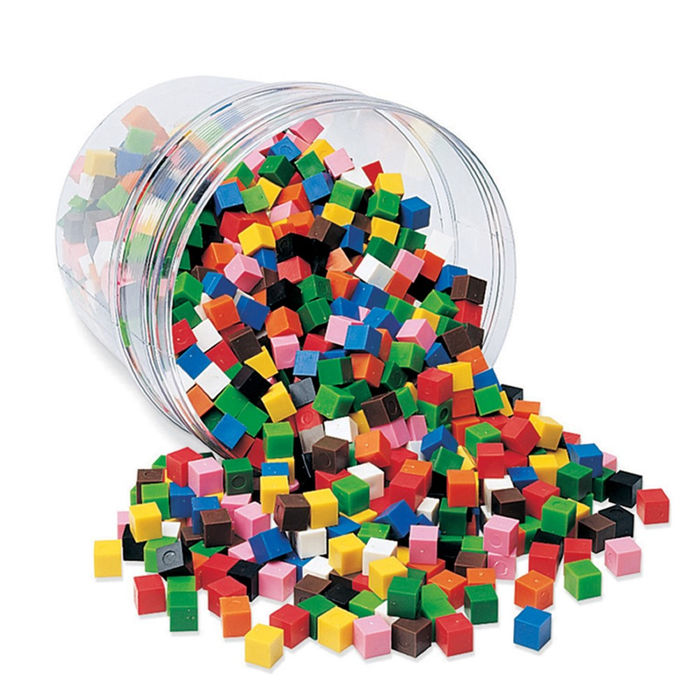 LER2089 - Centimeter Cubes 1000-Pk 10 Colors In Storage Tub in Counting