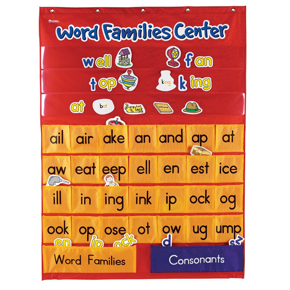 word families  u0026 rhyming center pocket chart