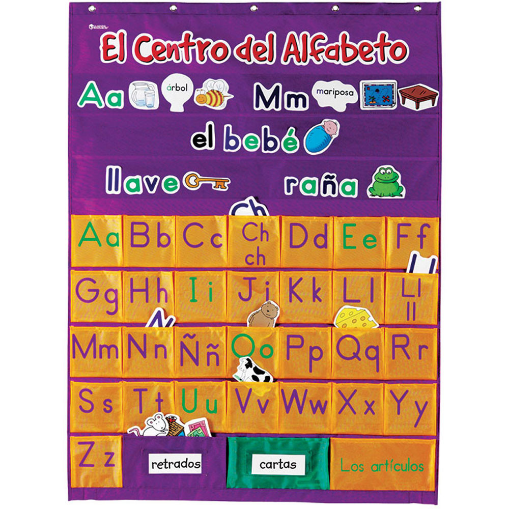 LER2529 - Spanish Alphabet Pocket Chart in Pocket Charts