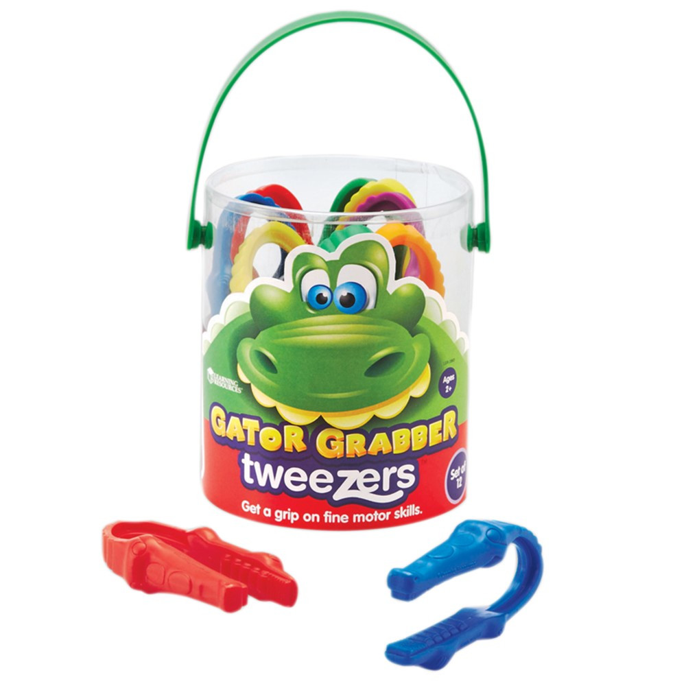 LER2963 - Gator Grabber Tweezers in Manipulatives