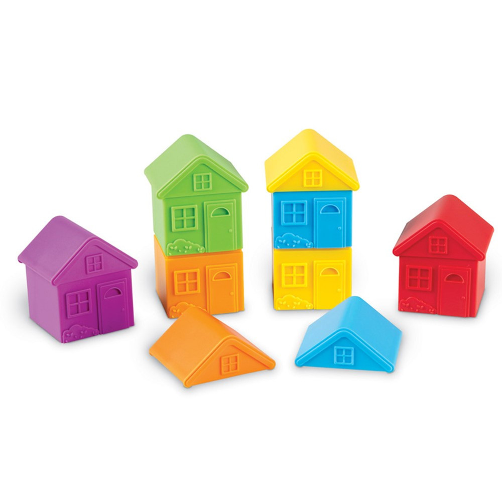 All About Me Sort & Match Houses, Set of 6 - LER3370 | Learning Resources | Sorting
