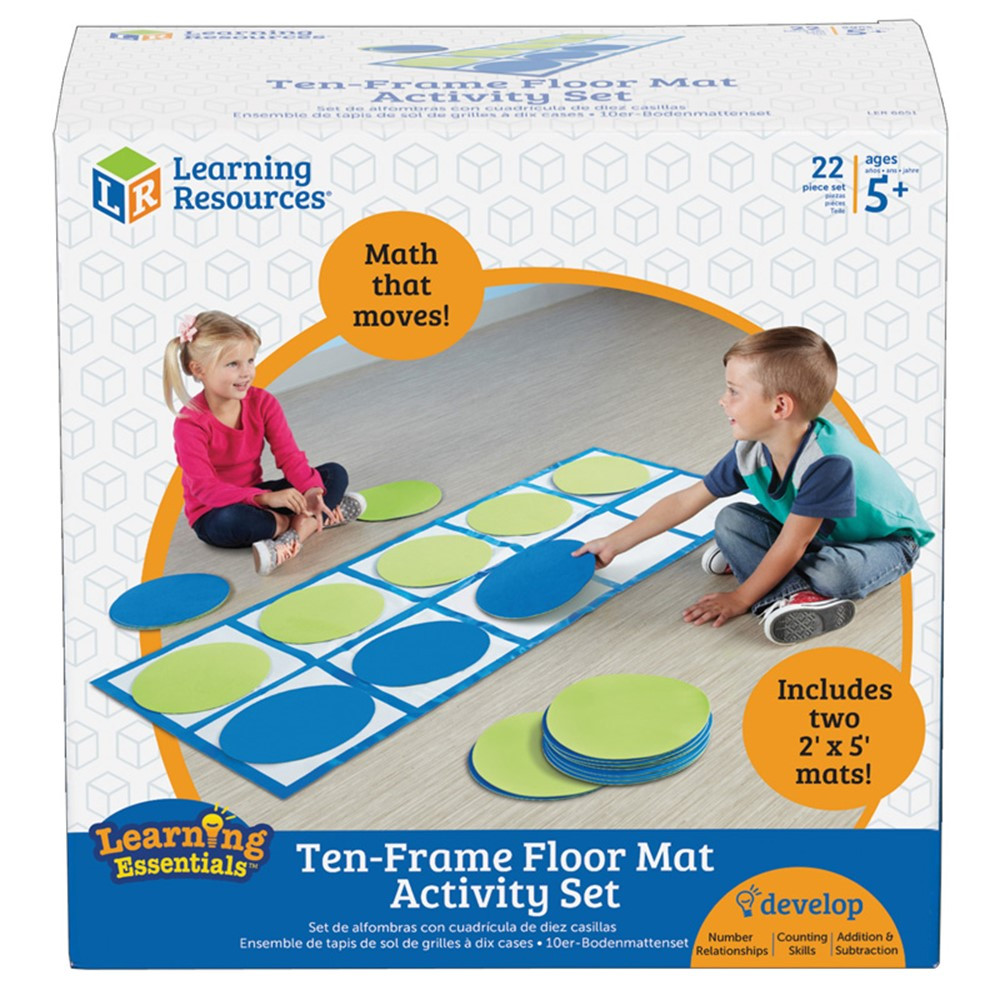 Ten Frame Floor Mat Activity Set Ler6651 Learning