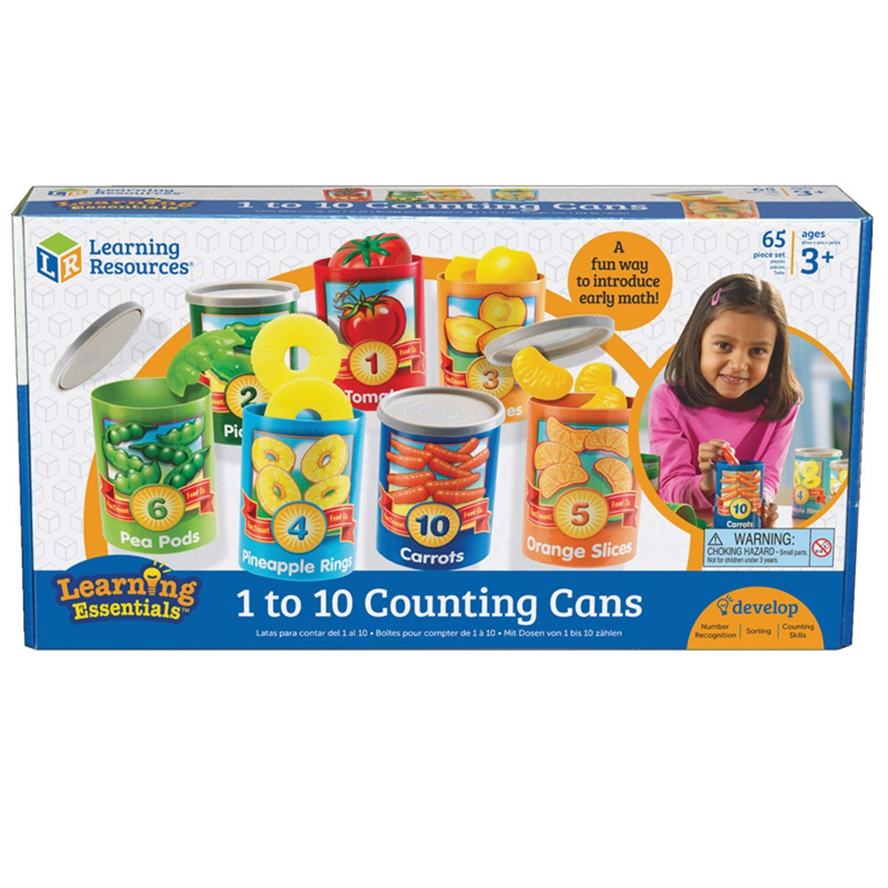 LER6800 - 1 To 10 Counting Cans in Play Food