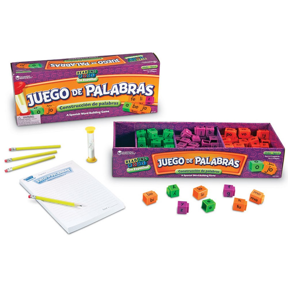 LER7241 - Juego De Palabras A Spanish Reading Rod Word Game in Games