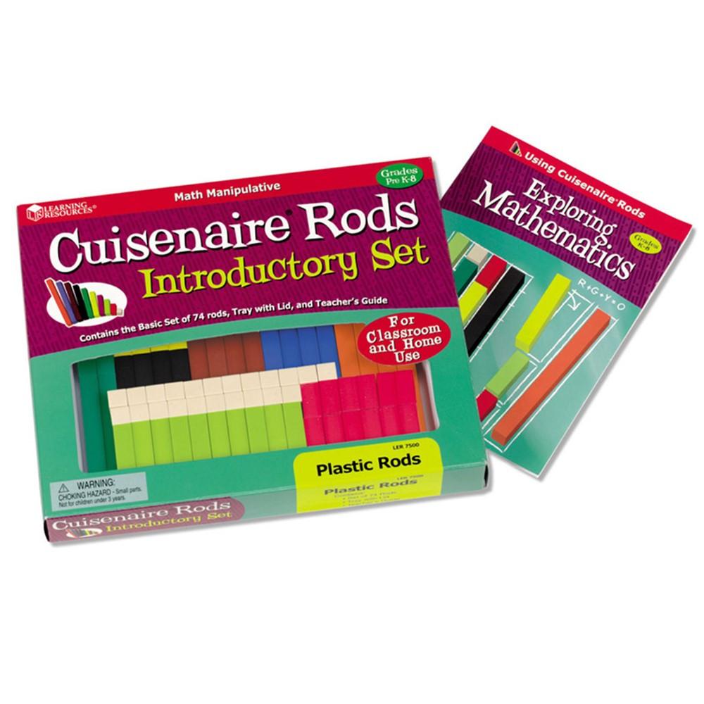 LER7500 - Cuisenaire Rods Intro Set 74/Pk Plastic in Numeration