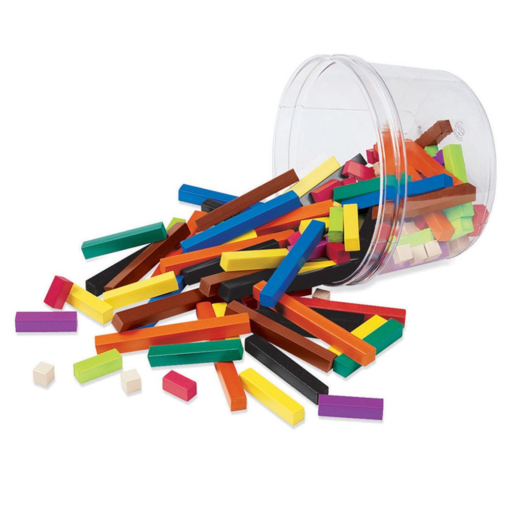 LER7513 - Cuisenaire Rods Small Group 155/Pk Plastic in Counting