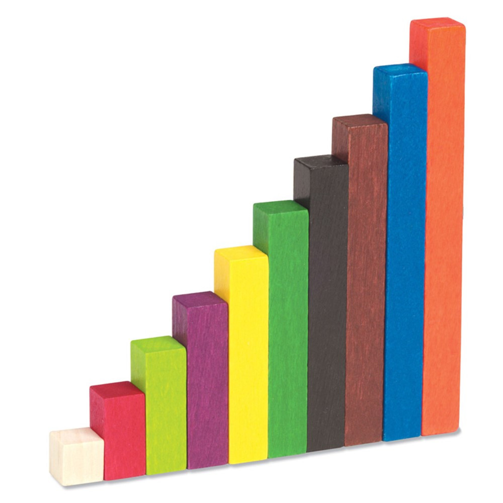 LER7514 - Cuisenaire Rods Small Group 155/Pk Wood in Counting