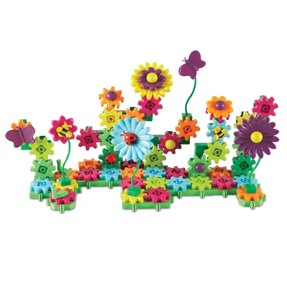 LER9214D - Build And Bloom Flower Garden Gears in Pretend & Play