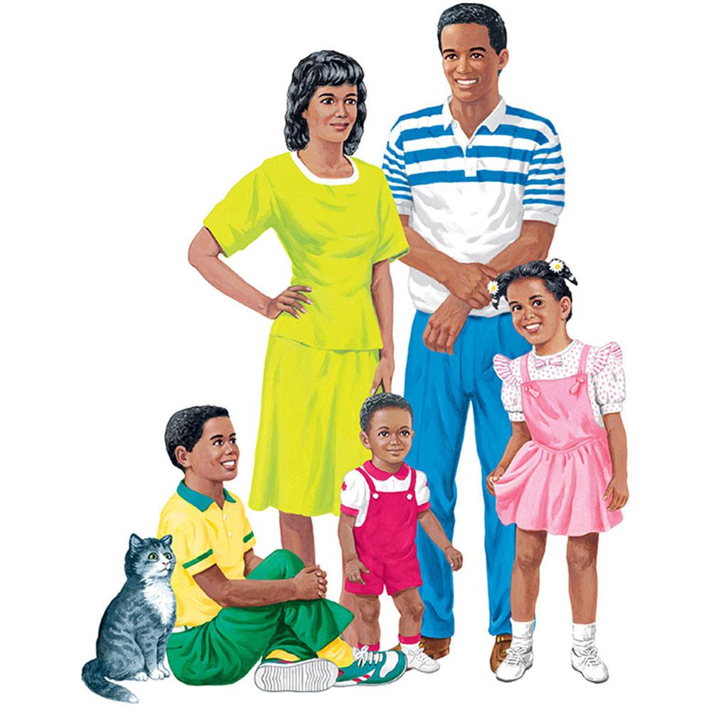 LFV22208 - African-American Family Pre-Cut Flannelboard Set in Flannel Boards