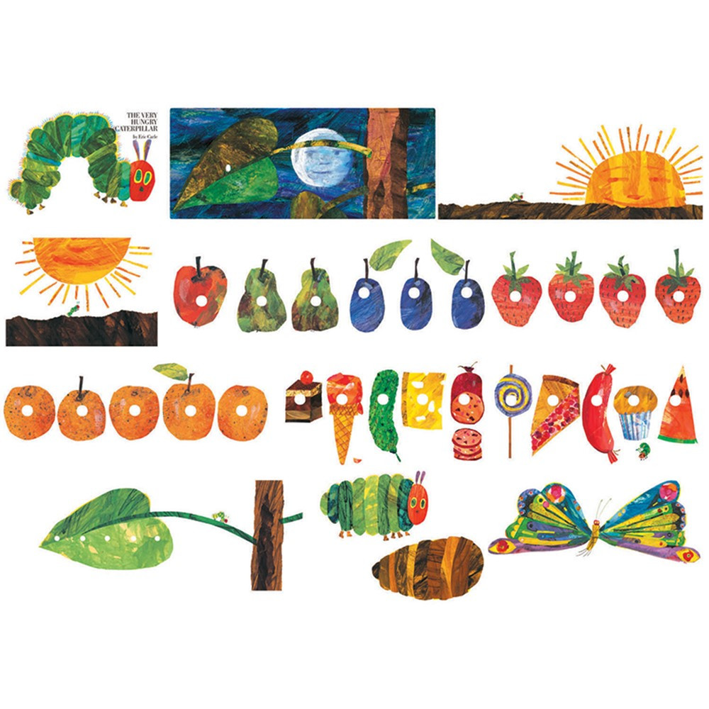 eric carle the very hungry caterpillar flannelboard set lfv22801 little folks visuals. Black Bedroom Furniture Sets. Home Design Ideas