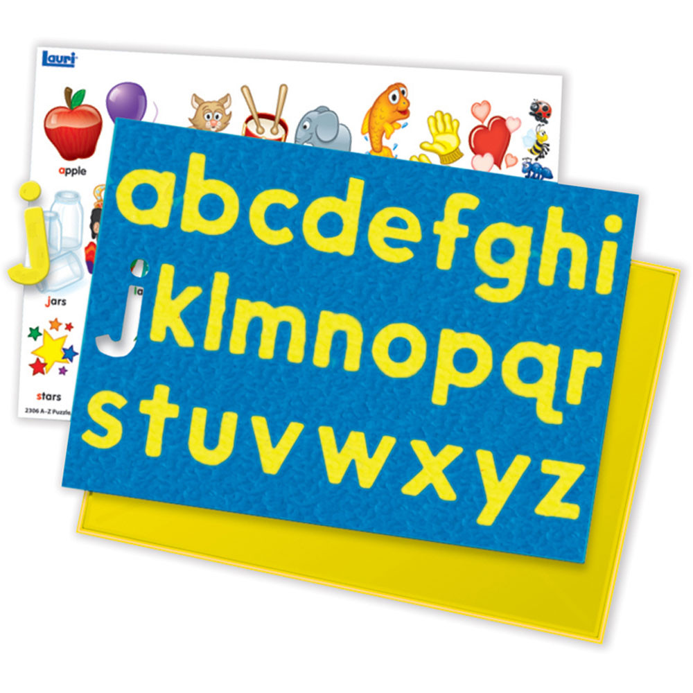 LR-2306 - Puzzle A-Z Lowercase 2T Letters Ages 3-6 in Alphabet Puzzles