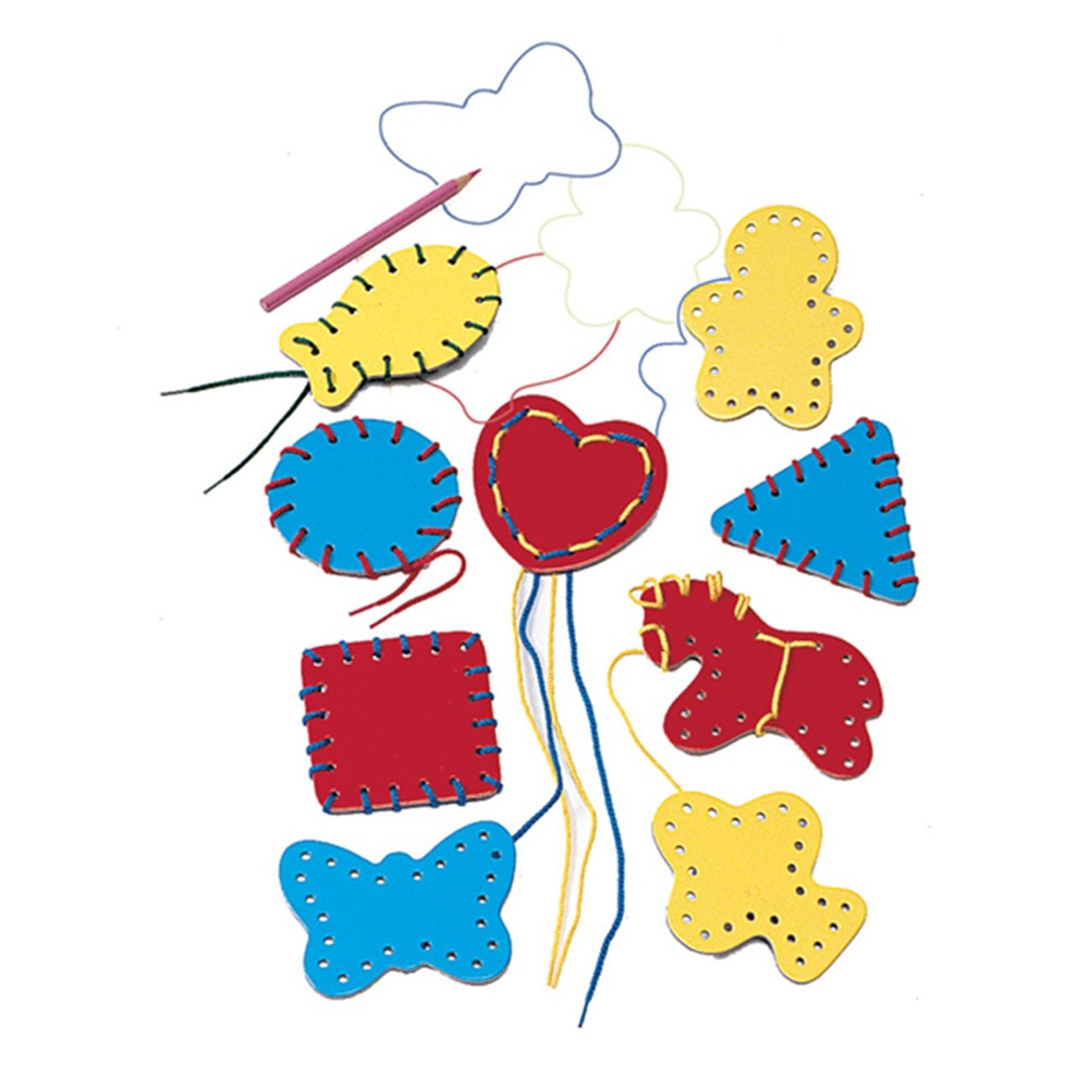 LR-2561 - Lacing Shapes 9/Pk Ages 3-6 in Lacing