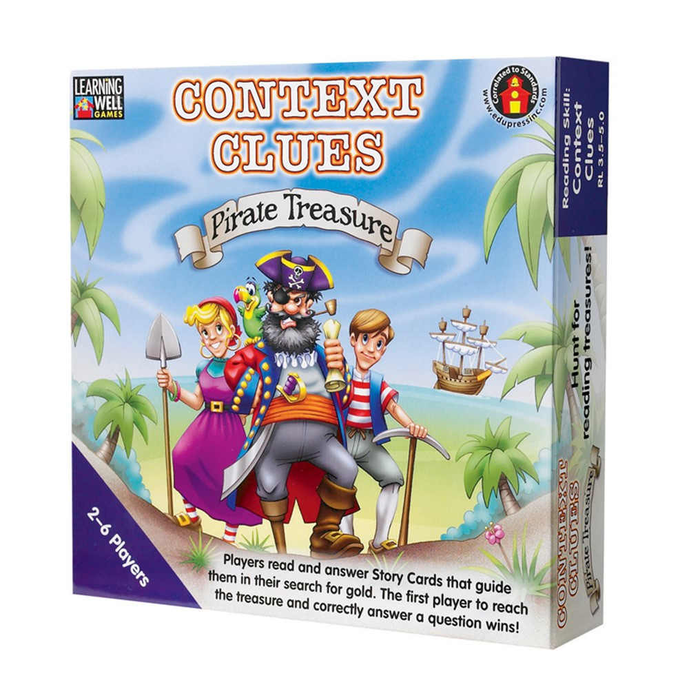 LRN301 - Context Clues Pirate Treasure Blue in Language Arts