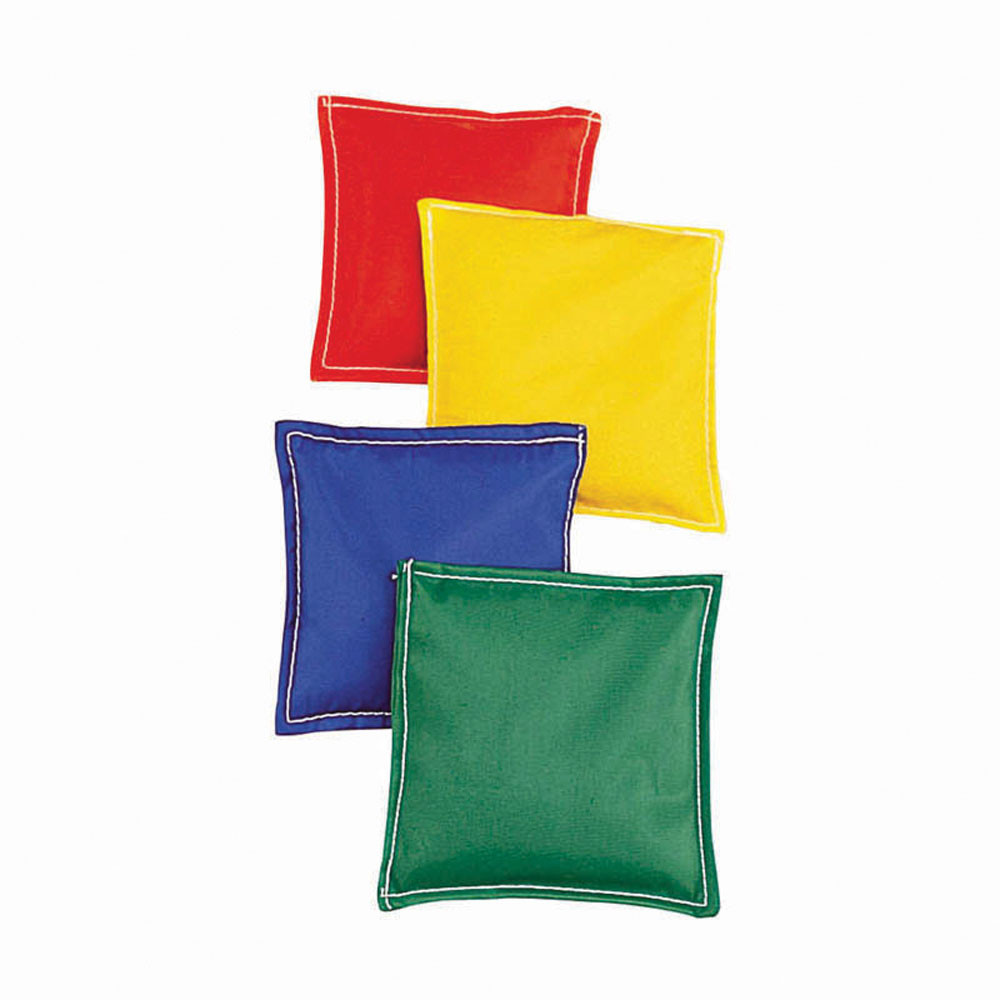 MASBB66 - Bean Bags 6 X 6 12-Pk Nylon Cover Plastic Bead Filling in Bean Bags & Tossing Activities
