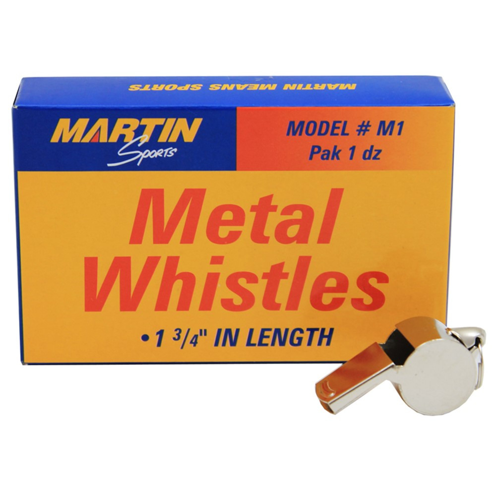 MASM1 - Whistle Small Metal 12/Pk 1-3/4L in Whistles