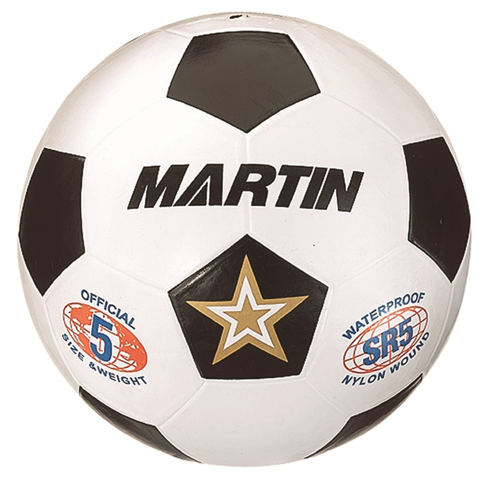MASSR5W - Soccer Ball White Size 5 Rubber Nylon Wound in Balls