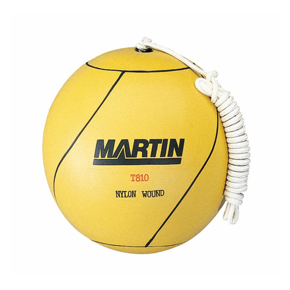 MAST810 - Tetherball Rubber Nylon Wound W/ Rope in Balls