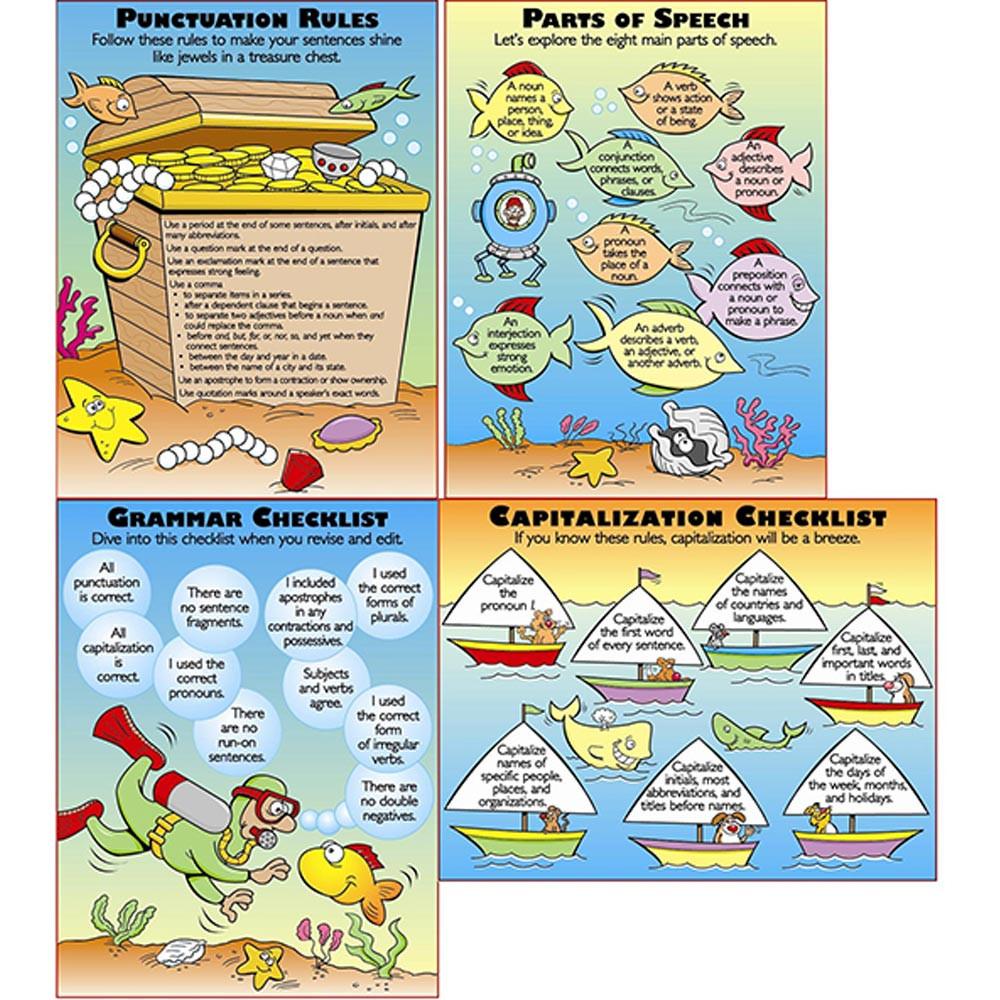 MC-P082 - Grammar Basics Teaching Poster Set in Language Arts