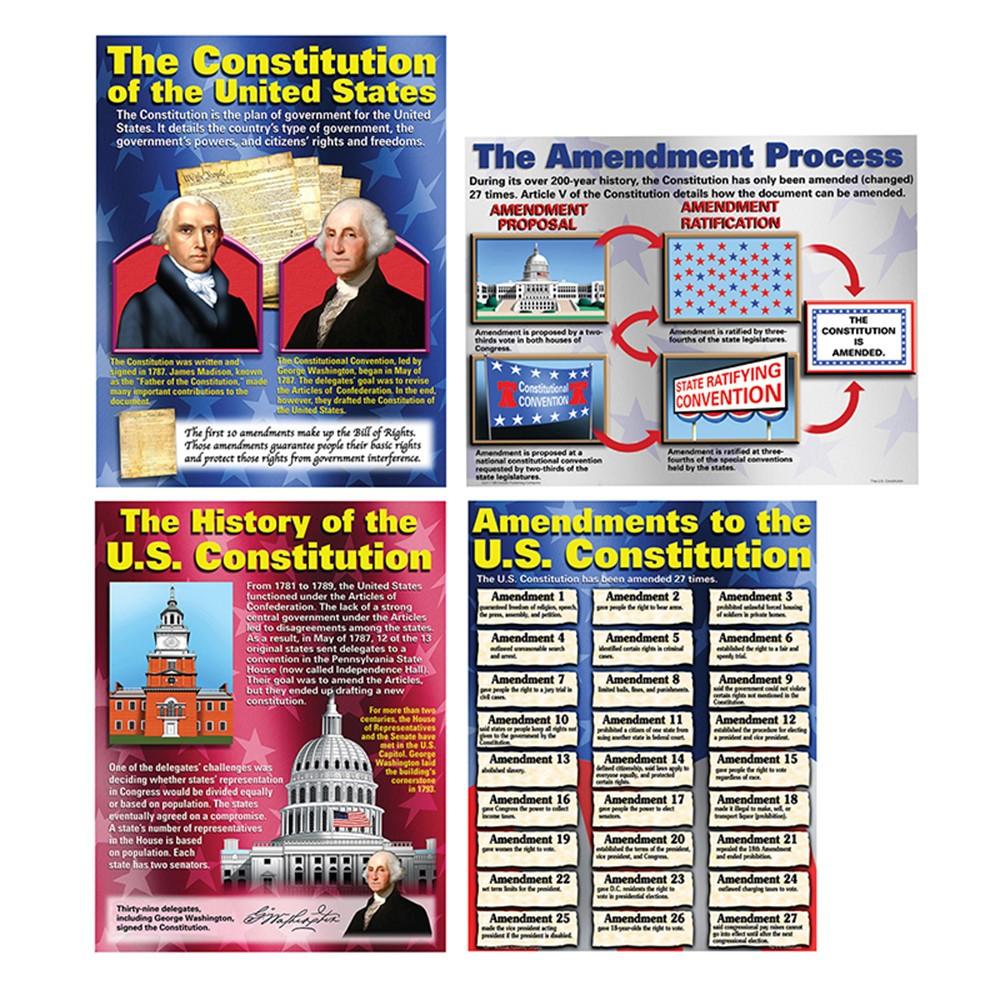 MC-P119 - The Constitution Teaching Poster Set in Social Studies