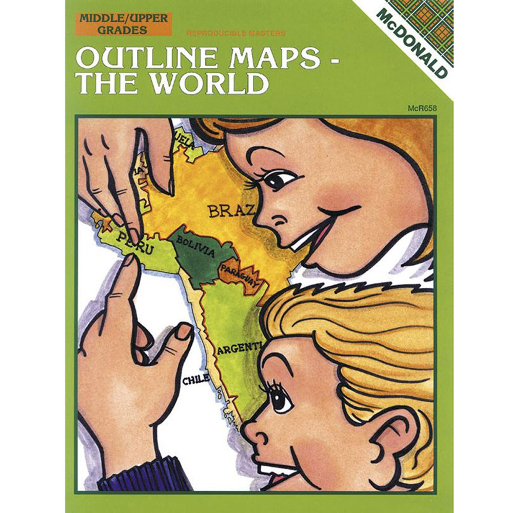 MC-R658 - Outline Maps The World in Maps & Map Skills