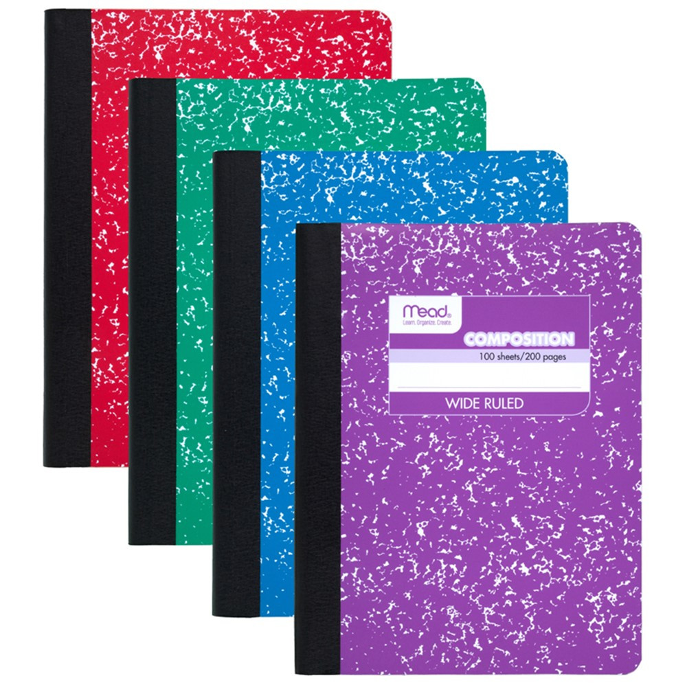 Composition Book Fashion Colors Assorted Mea09918 Mead