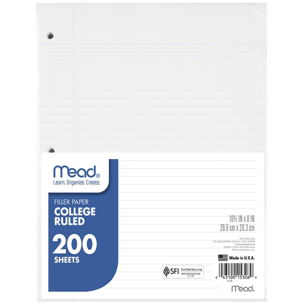 MEA15326 - Paper Filler Col 10 1/2X 8 200 Ct in Loose Leaf Paper