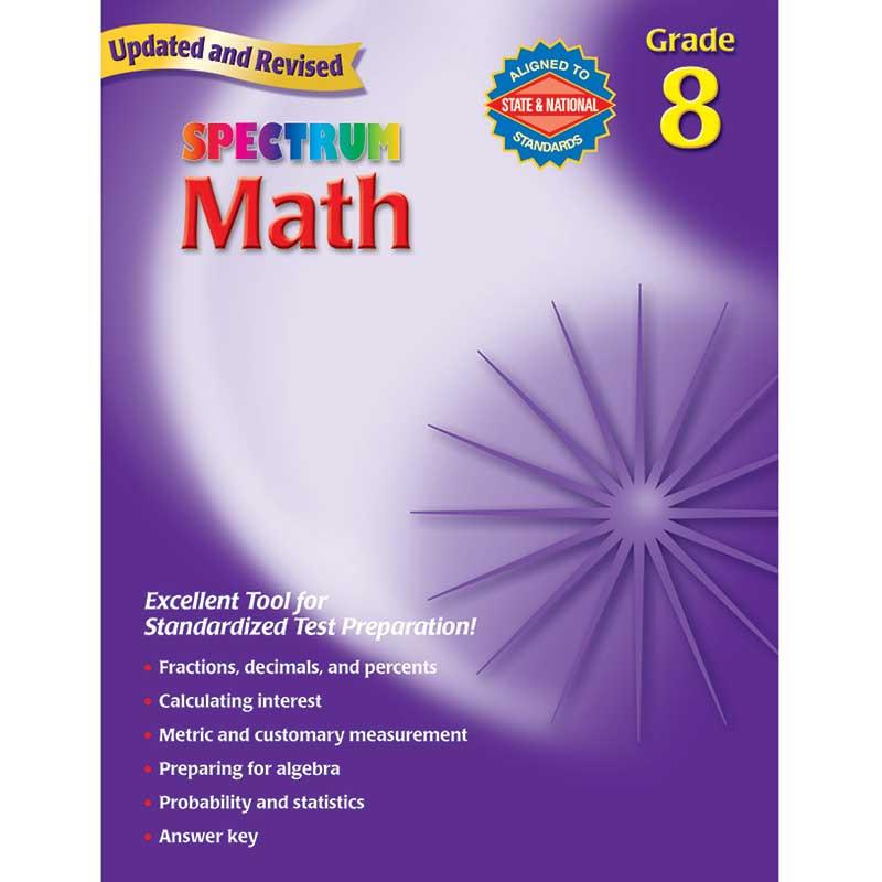 MGH0769636985 - Spectrum Math Gr 8 Starburst in Activity Books
