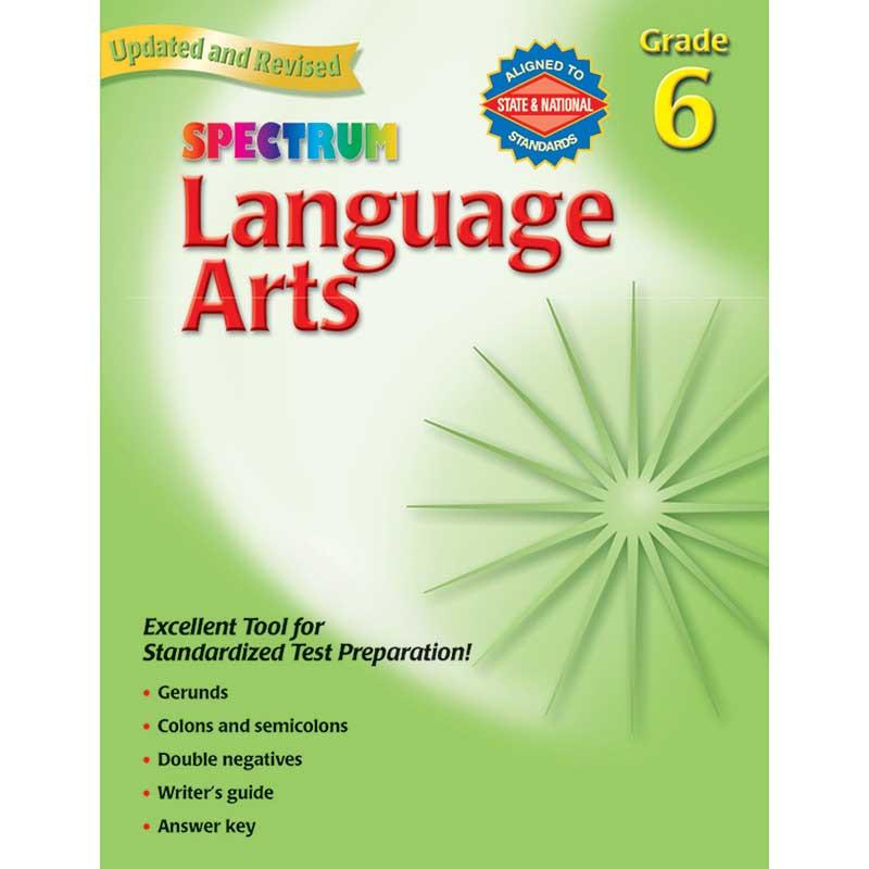MGH0769653065 - Spectrum Language Arts Gr 6 in Language Skills