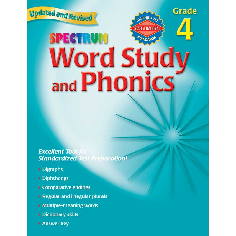 MGH0769682944 - Spectrum Word Study & Phonics Gr 4 in Phonics