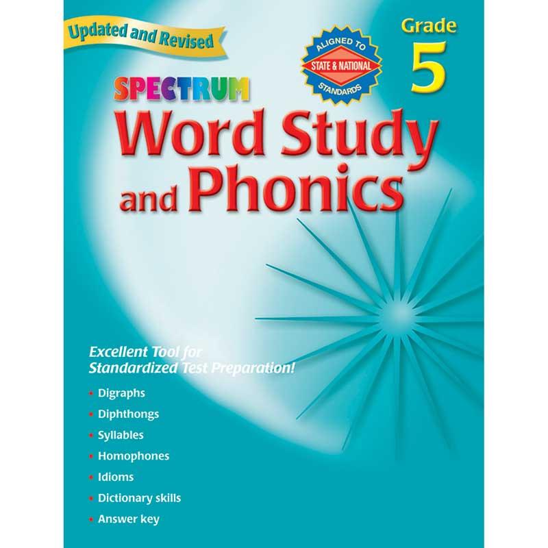 MGH0769682952 - Spectrum Word Study & Phonics Gr 5 in Phonics