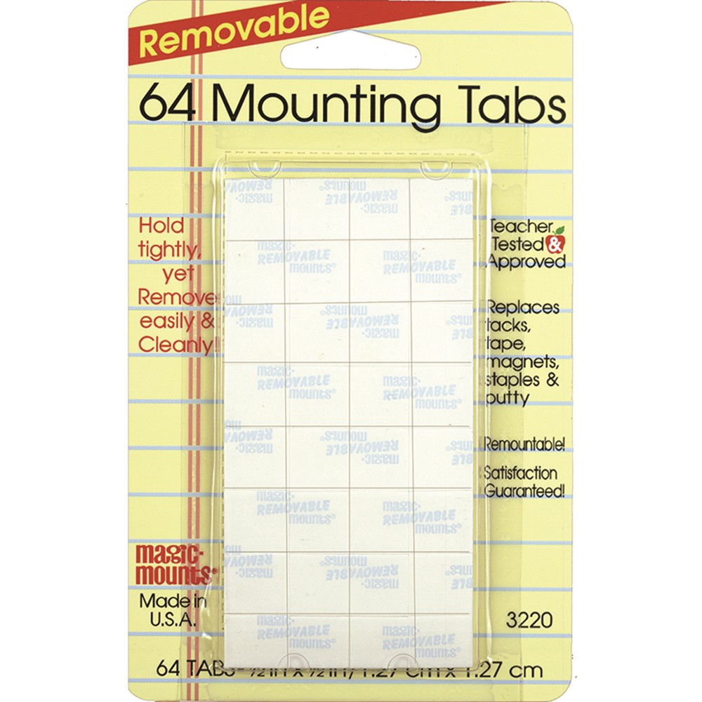 MIL3220 - Magic Mounts Mounting Tabs 1/2X1/2 64Pk in Adhesives