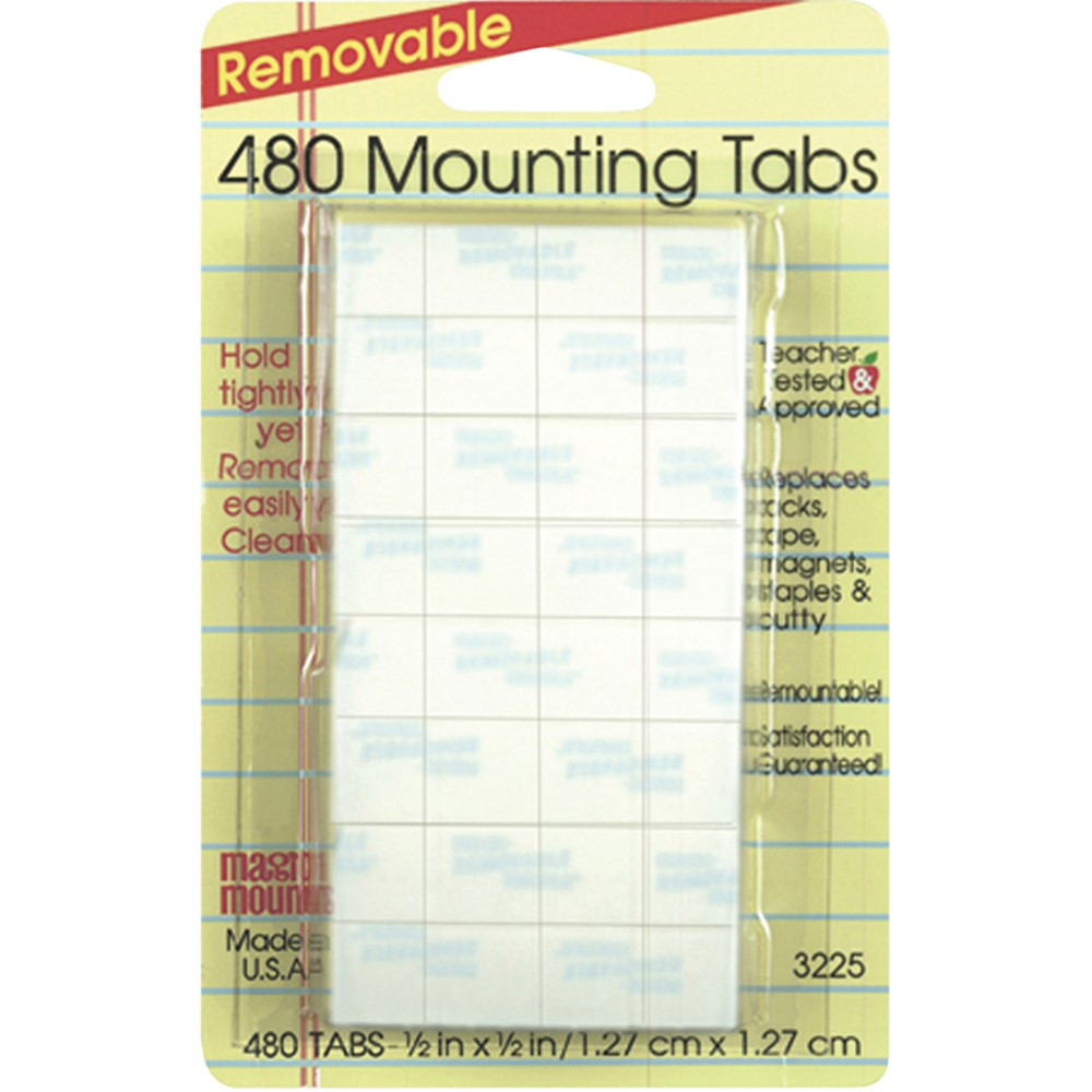 MIL3225 - Wall Mounting Tabs 480 Tabs 1/2 in Adhesives