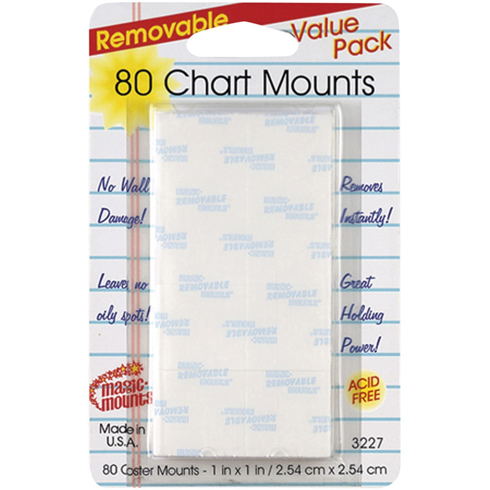 MIL3227 - Wall Mounting Tabs 80 Chart Tabs 1 X 1 in Adhesives