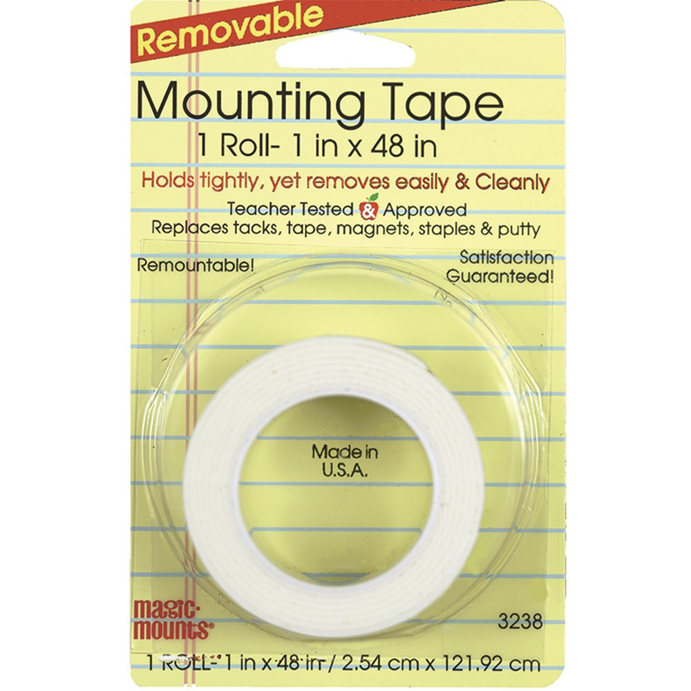 MIL3238 - Remarkably Removable Magic Mounting Tape Tabs And Chart Mounts 1X48 in Adhesives