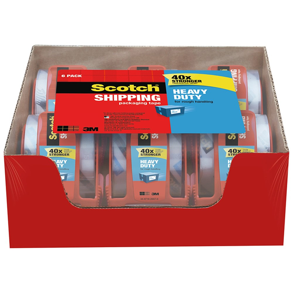 MMM1426 - Scotch Packaging Tape 2X800 6 Rolls in Tape & Tape Dispensers