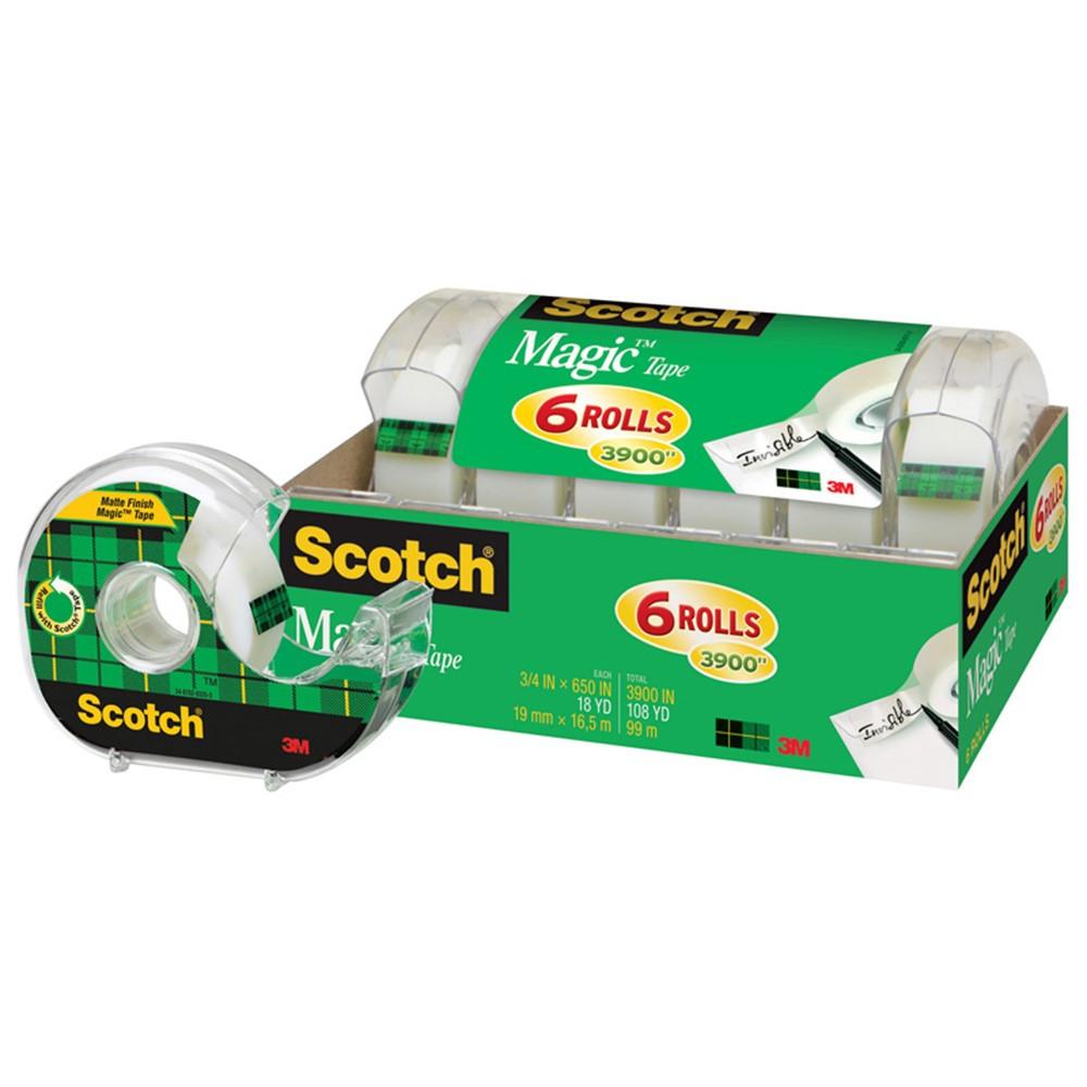 MMM6122 - Scotch Magic Tape 1/2 X 650 6 Pack in Tape & Tape Dispensers
