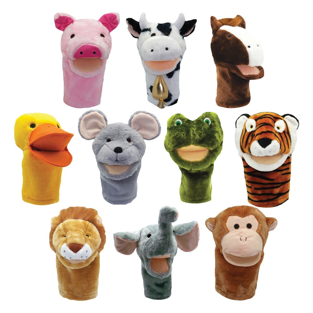 MTB200999 - Plushpups Hand Puppets Set Of 10 in Puppets & Puppet Theaters