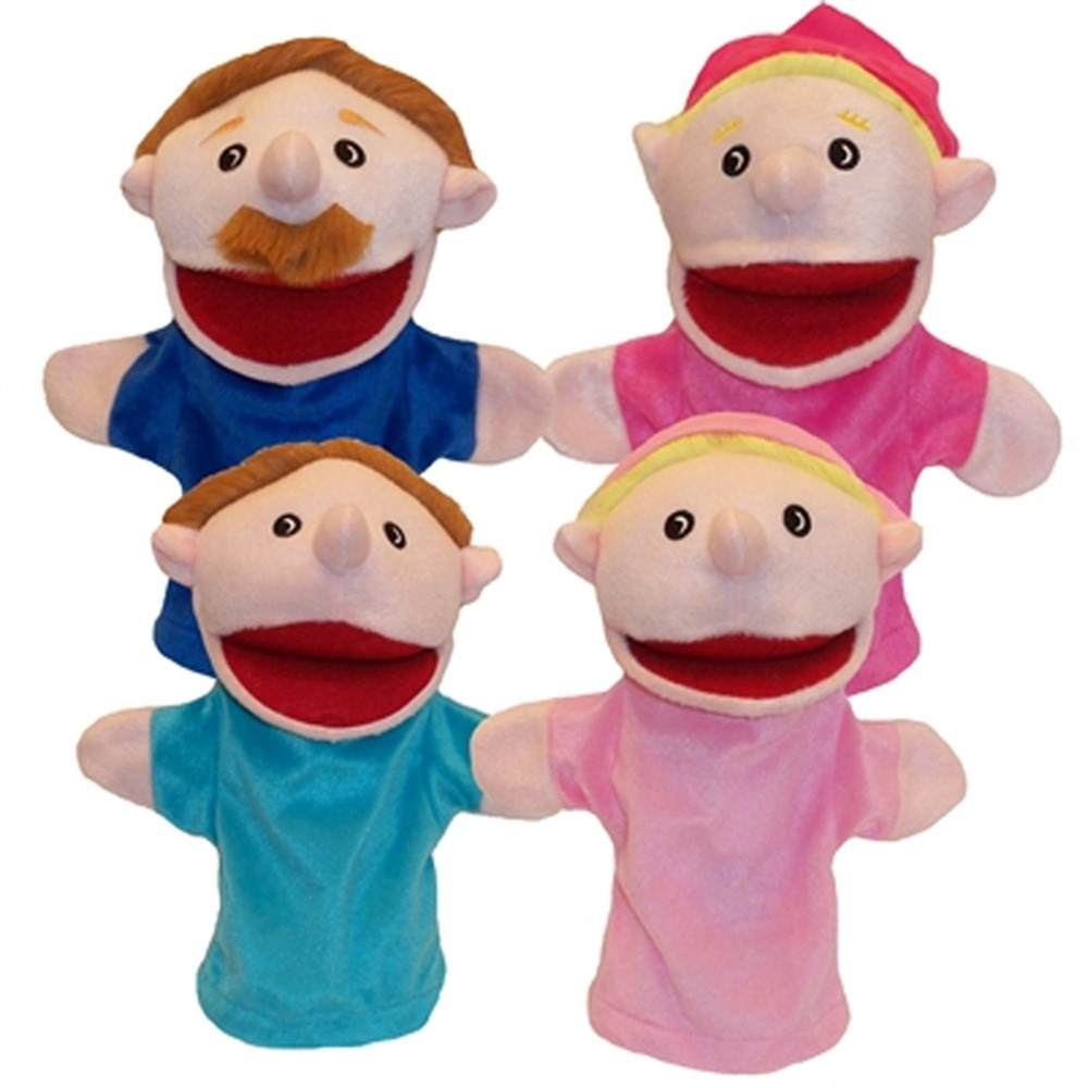 MTB350 - Family Bigmouth Puppets Caucasian Family Of 4 in Puppets & Puppet Theaters