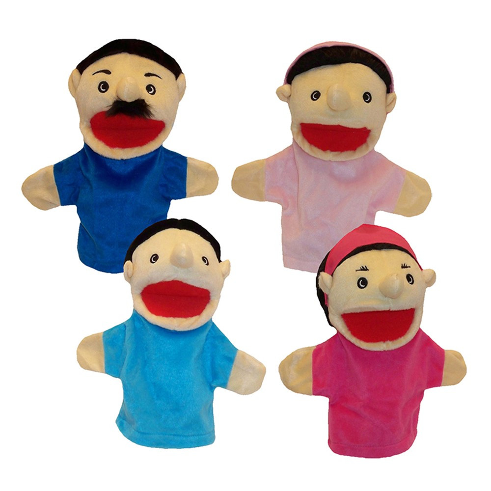 MTB370 - Family Bigmouth Puppets Hispanic Family Of 4 in Puppets & Puppet Theaters
