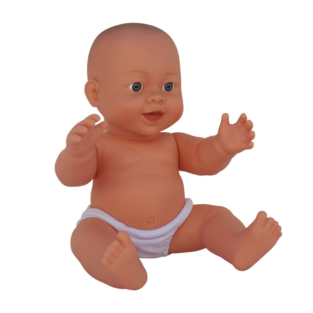 MTB856 - Large Vinyl Gender Neutral Asian Baby Doll in Dolls